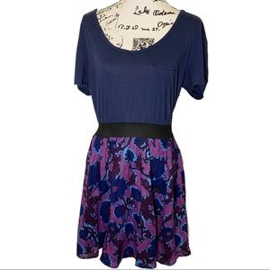 Free People Fit & Flare Dress Floral Damask